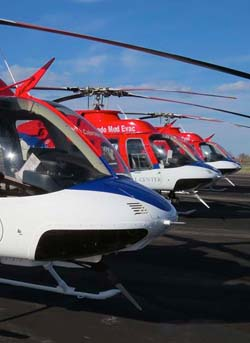 Stock picture of 3 helicopters