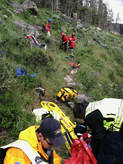Picture of GCSAR and GCEMS MMRT on a mission