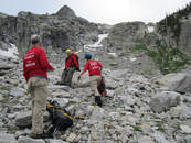 Picture of Grand County Search and Rescue members in the backcountry