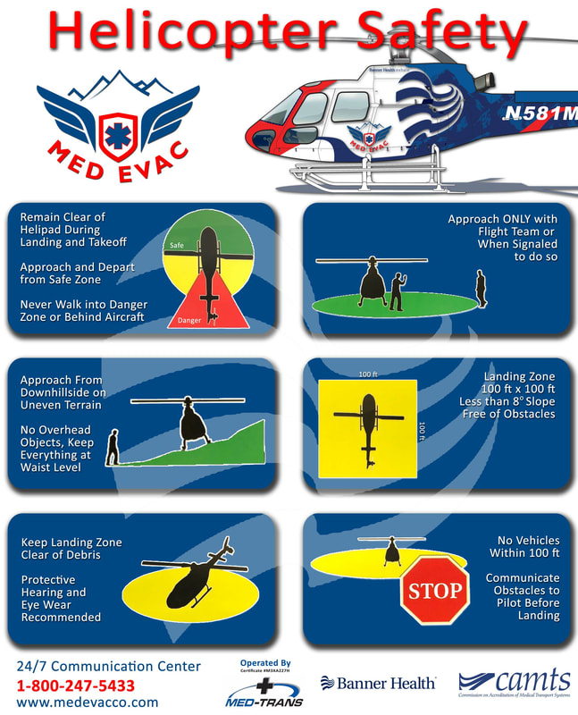 Picture of Med Evac safety poster
